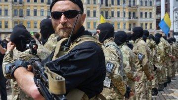 Присяга батальона Азов в Киеве. Архивное фото