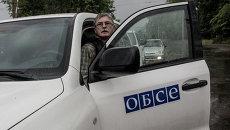 Визит наблюдателей миссии ОБСЕ в Славянск. Архивное фото