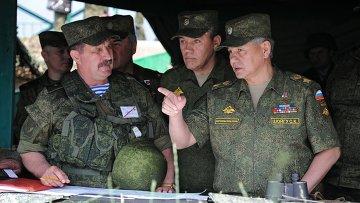 Учения войск Центрального военного округа на полигоне Чебаркуль