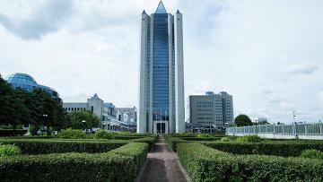 Главный офис компании Газпром в Москве. Архивное фото