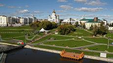 Вид на центральную часть Саранска. Архивное фото.