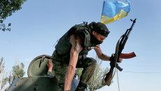 Солдат Украинской армии. Архивное фото
