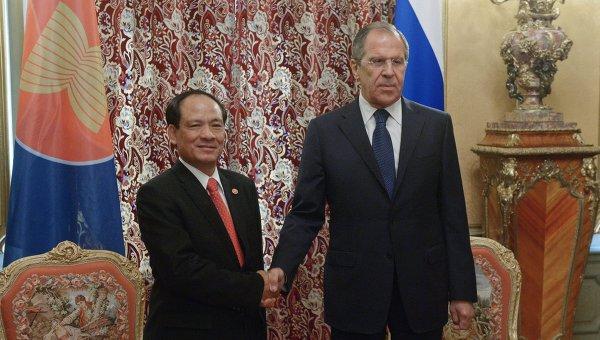 Встреча главы МИД РФ С.Лаврова с Генеральным секретарем АСЕАН Ле Лыонг Минем