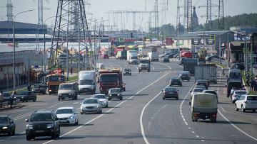Открытие движения по реконструированной дороге от Киевского до Калужского шоссе. Архив