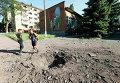 Последствия удара по Краматорску украинской артиллерии