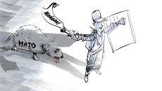НАТО рвется на Украину. Карикатура