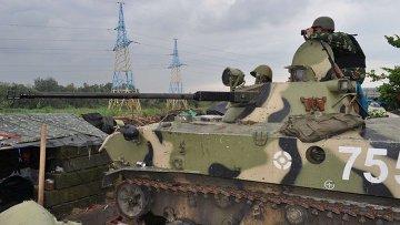 Позиция Украинской армии под Славянском