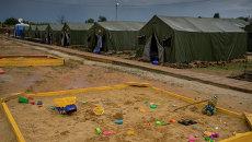Детские песочницы в лагере для беженцев из Украины в Ростовской области. Архивное фото