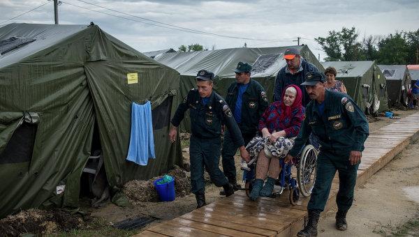 Беженцы из Украины в лагере в Ростовской области. Архивное фото