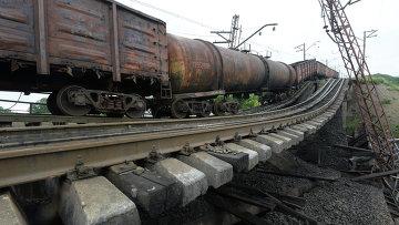 Железнодорожная авария. Архивное фото