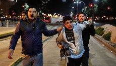 Беспорядки после поражения сборной Аргентины на чемпионате мира по футболу. Буэнос-Айрэс, Аргентина