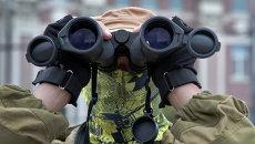 Боец народного ополчения на Украине