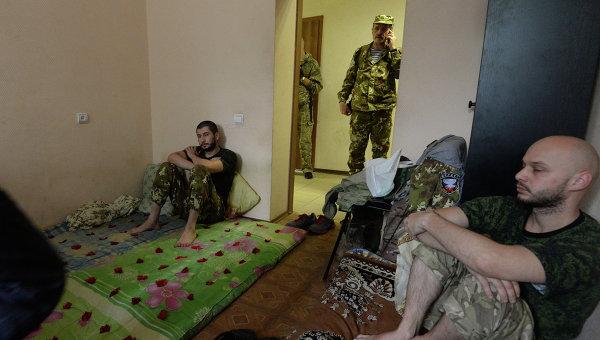 Пленные военнослужащие украинской армии