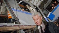 Мэр Москвы Сергей Собянин посетил участок перегона московского метрополитена Парк Победы