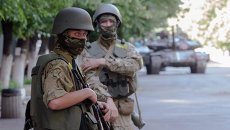 Солдаты украинской национальной гвардии. Архивное фото