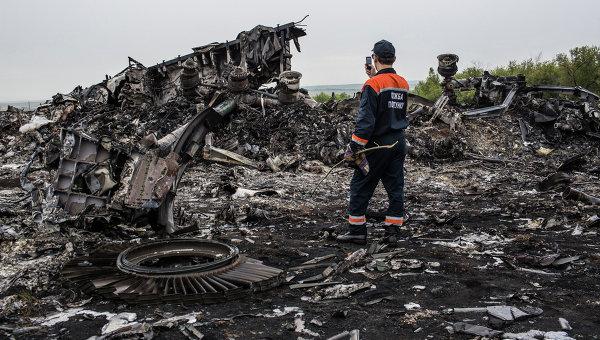 Обломки Boeing 777 компании Malaysia Airlines