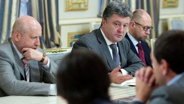 Встреча Петра Порошенко с представителями Верховной Рады. Архивное фото.