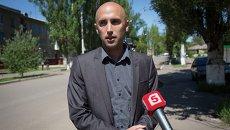 Журналист из Великобритании Грэм Филлипс во время работы на Украине