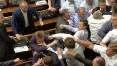 Депутаты Свободы и Компартии кричали и дрались в Верховной Раде