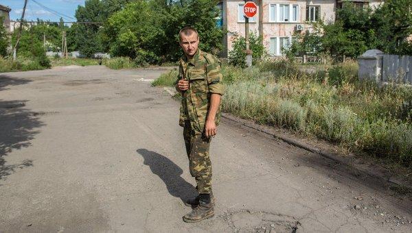 Украинский солдат Сергей Кузьменко
