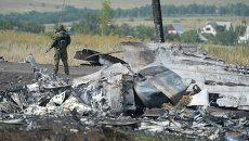 На месте крушения малайзийского Boeing 777 под Донецком