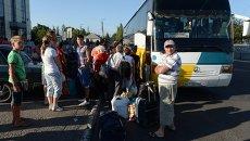 Эвакуация жителей. Архивное фото