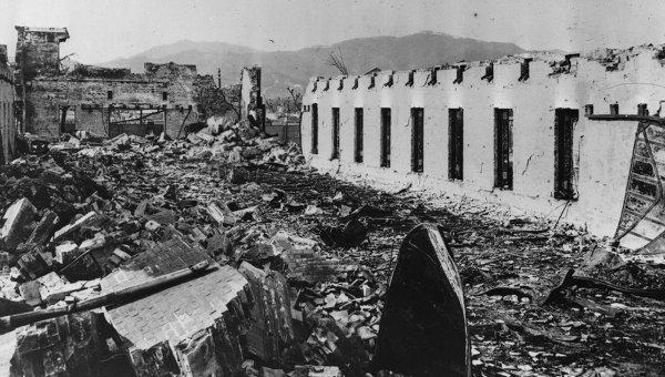 Хиросима после взрыва атомной бомбы в 1945
