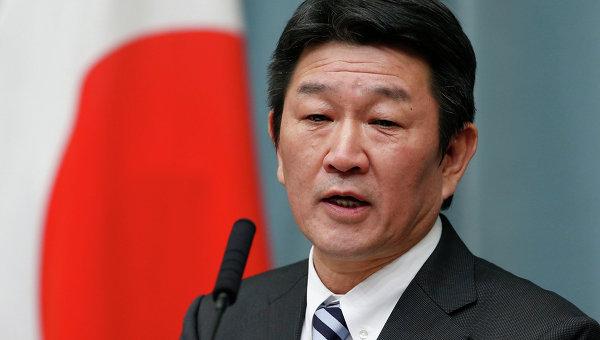 Министр экономики Японии Тосимицу Мотэги