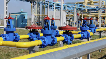 Работа отделения управления переработки газа на Украине. Архивное фото