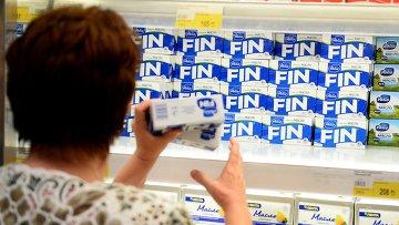 Продажа продуктов финского производителя молочных продуктов Valio. Архивное фото