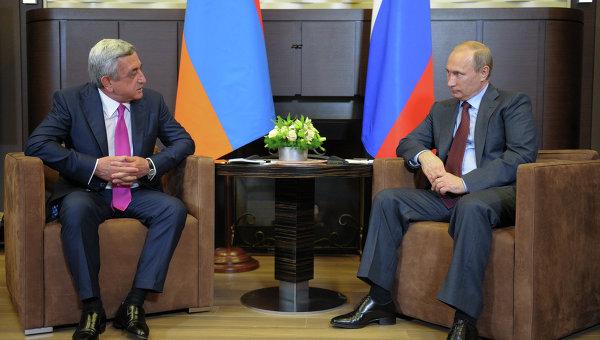 Встреча В.Путина с С.Саргсяном. Архивное фото