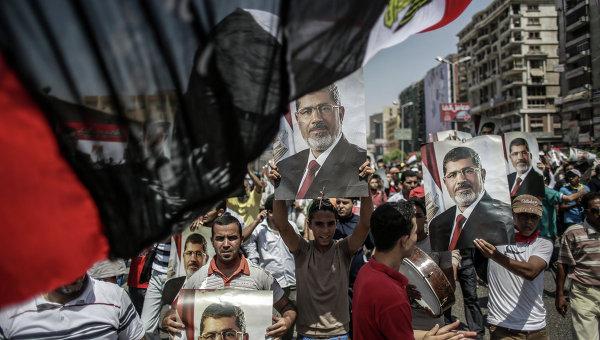 Сторонники экс-президента Египта Муххамеда Мурси . Архивное фото