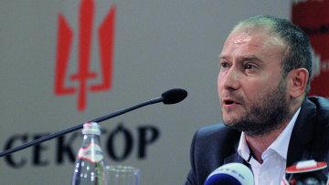 Лидер радикального движения Правый сектор Дмитрий Ярош. Архивное фото