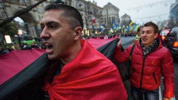 Марш в честь дня образования Украинской Повстанческой Армии в Киеве, архивное фото