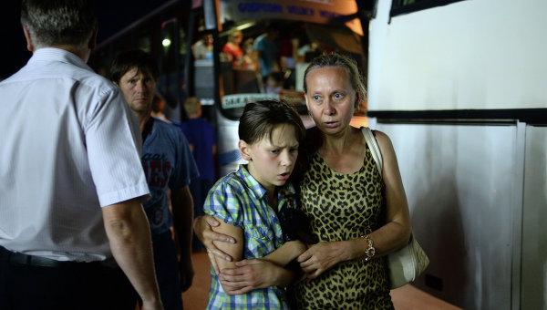 Беженцы с Украины прибыли в Великий Новгород. Архивное фото