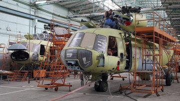 Цех окончательной сборки вертолетов МИ-17. Архивное фото