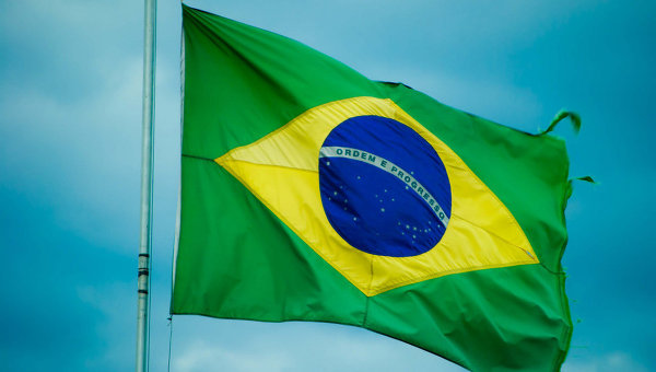 Флаг Бразилии. Архивное фото