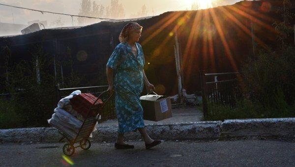 Жительница города Ясиноватая. Архивное фото