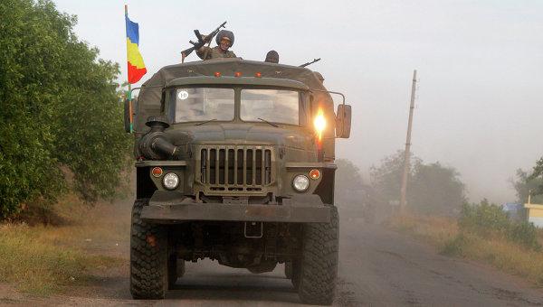 Бойцы народного ополчения в Донбассе, архивное фото