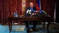 Сергей Лавров на пресс-конференции в Берлине 18 августа 2014
