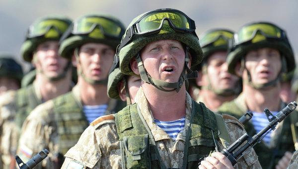 Российские десантники, архивное фото