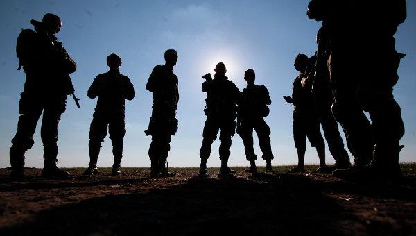 Солдаты украинской армии в Луганске