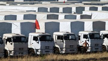 Грузовики гуманитарного конвоя. Архивное фото