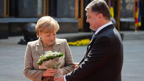 Встреча Петра Порошенко с Ангелой Меркель. Архивное фото