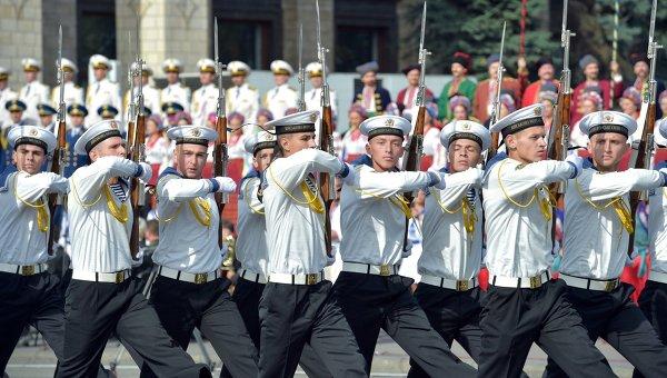 Парад в честь Дня независимости Украины. Архивное фото.