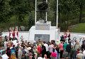 Церемония открытия памятника Штыковая атака в городе Гусеве