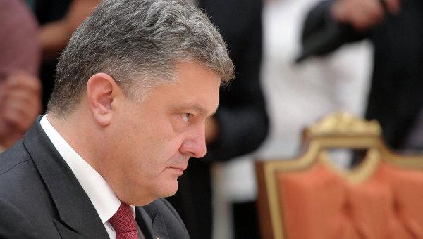 Президент Украины Петр Порошенко во время встречи глав государств Таможенного союза с президентом Украины и представителями Европейской комиссии