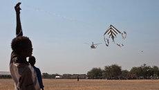 Вертолет над Южным Суданом. Архивное фото