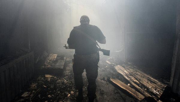 Ополченец ДНР в Донецке, архивное фото