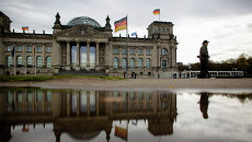 Здание Рейхстаг в котором находится парламент Бундестаг Германии. Архивное фото
